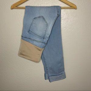 Liverpool maternity skinny capri jeans size 2